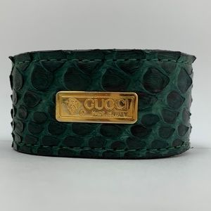 Authentic Upcycled Gucci Python Cuff